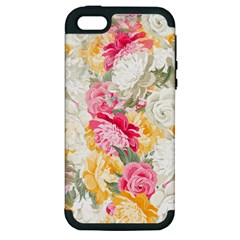 Colorful Floral Collage Apple iPhone 5 Hardshell Case (PC+Silicone)