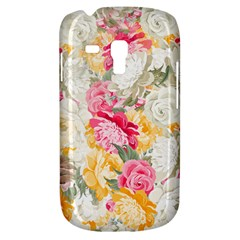 Colorful Floral Collage Samsung Galaxy S3 MINI I8190 Hardshell Case