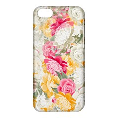 Colorful Floral Collage Apple iPhone 5C Hardshell Case