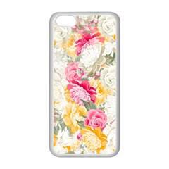 Colorful Floral Collage Apple iPhone 5C Seamless Case (White)