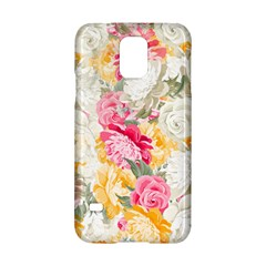 Colorful Floral Collage Samsung Galaxy S5 Hardshell Case