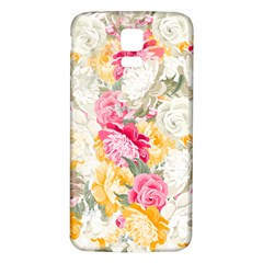Colorful Floral Collage Samsung Galaxy S5 Back Case (White)