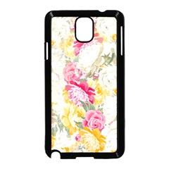 Colorful Floral Collage Samsung Galaxy Note 3 Neo Hardshell Case (Black)