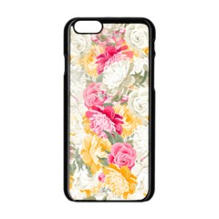 Colorful Floral Collage Apple Iphone 6/6s Black Enamel Case