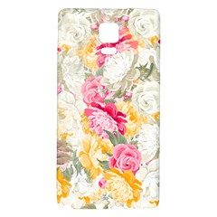 Colorful Floral Collage Galaxy Note 4 Back Case