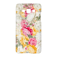 Colorful Floral Collage Samsung Galaxy A5 Hardshell Case