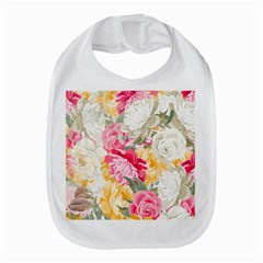 Colorful Floral Collage Bib