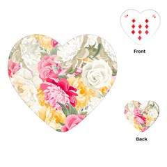 Colorful Floral Collage Playing Cards (heart)