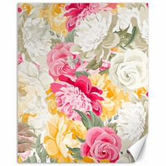 Colorful Floral Collage Canvas 16  X 20