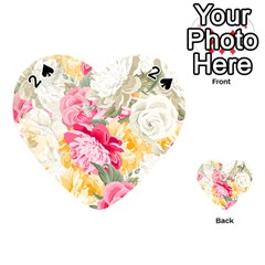 Colorful Floral Collage Playing Cards 54 (Heart)