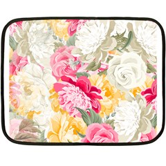 Colorful Floral Collage Fleece Blanket (mini)