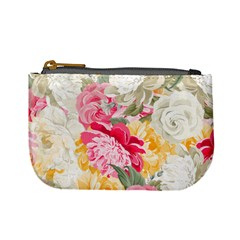 Colorful Floral Collage Mini Coin Purses