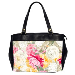 Colorful Floral Collage Office Handbags (2 Sides)