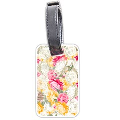 Colorful Floral Collage Luggage Tags (One Side)