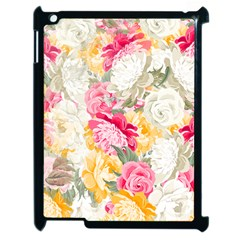 Colorful Floral Collage Apple iPad 2 Case (Black)