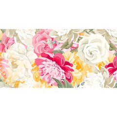 Colorful Floral Collage You Are Invited 3d Greeting Card (8x4)