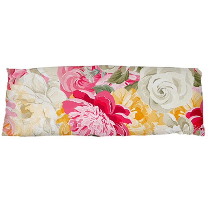 Colorful Floral Collage Body Pillow Cases (Dakimakura)