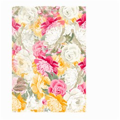 Colorful Floral Collage Large Garden Flag (Two Sides)