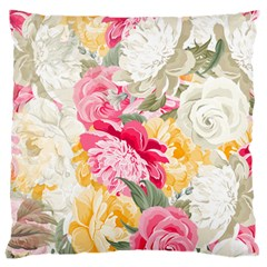 Colorful Floral Collage Large Cushion Cases (One Side)