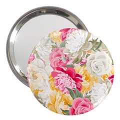 Colorful Floral Collage 3  Handbag Mirrors