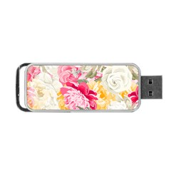 Colorful Floral Collage Portable USB Flash (Two Sides)
