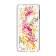 Colorful Floral Collage Apple iPod Touch 5 Case (White)