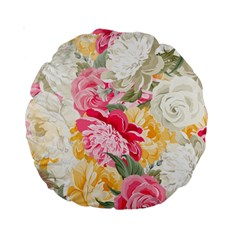 Colorful Floral Collage Standard 15  Premium Round Cushions