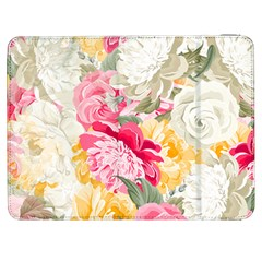 Colorful Floral Collage Samsung Galaxy Tab 7  P1000 Flip Case