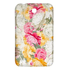 Colorful Floral Collage Samsung Galaxy Tab 3 (7 ) P3200 Hardshell Case