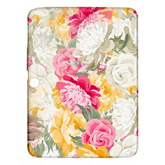 Colorful Floral Collage Samsung Galaxy Tab 3 (10 1 ) P5200 Hardshell Case