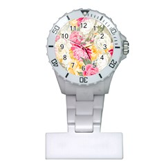 Colorful Floral Collage Nurses Watches