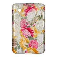 Colorful Floral Collage Samsung Galaxy Tab 2 (7 ) P3100 Hardshell Case