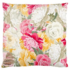 Colorful Floral Collage Large Flano Cushion Cases (One Side)