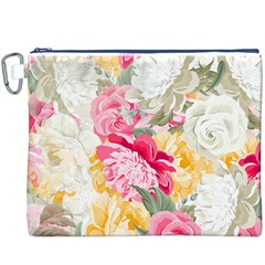Colorful Floral Collage Canvas Cosmetic Bag (XXXL)
