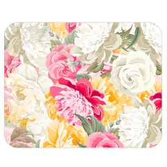 Colorful Floral Collage Double Sided Flano Blanket (medium)