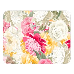 Colorful Floral Collage Double Sided Flano Blanket (Large)