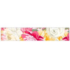 Colorful Floral Collage Flano Scarf (Large)