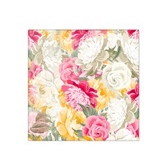 Colorful Floral Collage Satin Bandana Scarf