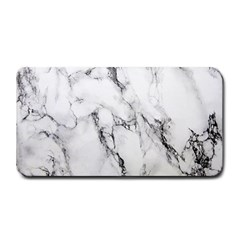 White Marble Stone Print Medium Bar Mats