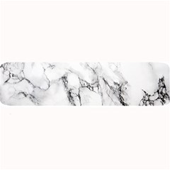 White Marble Stone Print Large Bar Mats