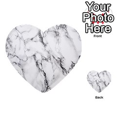 White Marble Stone Print Multi-purpose Cards (Heart)