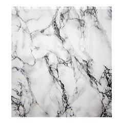 White Marble Stone Print Shower Curtain 66  x 72  (Large)