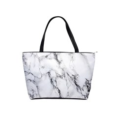 White Marble Stone Print Shoulder Handbags