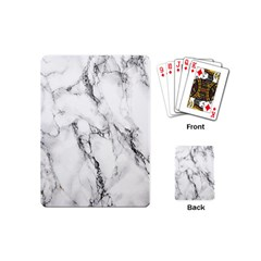 White Marble Stone Print Playing Cards (Mini)