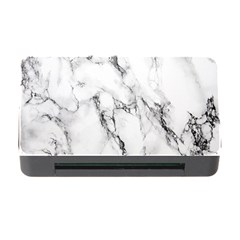 White Marble Stone Print Memory Card Reader with CF