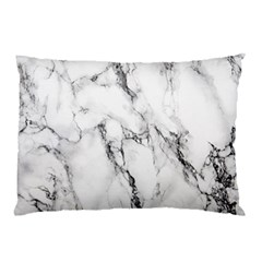 White Marble Stone Print Pillow Cases (Two Sides)