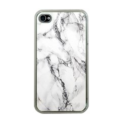 White Marble Stone Print Apple iPhone 4 Case (Clear)