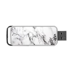 White Marble Stone Print Portable Usb Flash (one Side)