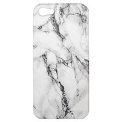 White Marble Stone Print Apple iPhone 5 Hardshell Case
