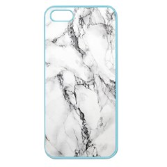 White Marble Stone Print Apple Seamless iPhone 5 Case (Color)